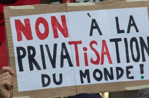 Non a la privatisation du monde