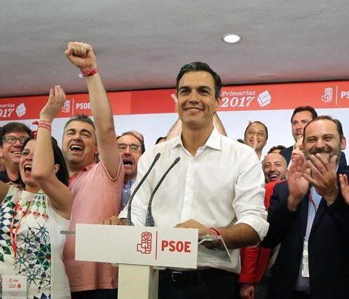 Madrid 21-05-2017 Noche electoral de las elecciones primarias para la secretaria General del PSOE  en la foto Pedro sanchez  Imagen Juan Manuel Prats