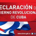 Declaracion-de-Gobierno Cuba